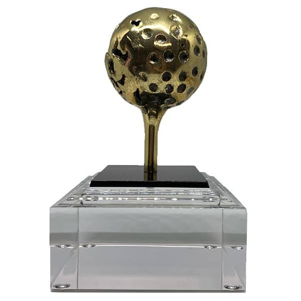 Trofeo Golf Bola con Tee Base Metacrilato